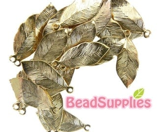 CH-ME-02011 - Gold-plated petite leaves 24 pcs