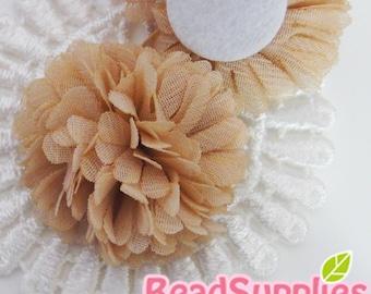 FA-FL-03002 - Fabric Pom Pom (M), beige, 2 pcs