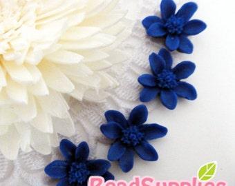 CA-CA-06905 - 6 petal iris,navy blue, 6 pcs
