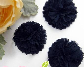 FA-FL-03010 - Fabric Pom Pom (M), black, 2 pcs