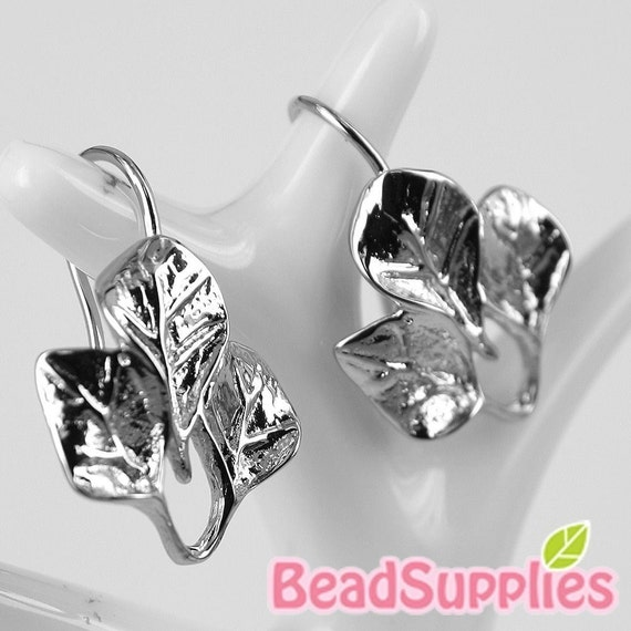 FN-ER-01014 -Silver plated, 3-Leaf Earwire , 4 pairs