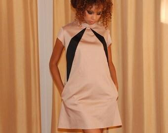 Twiggy Dress - chino/black - Ready to Ship
