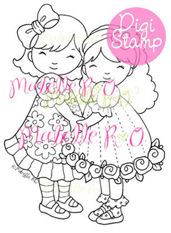 Digital Stamp: Best Friends
