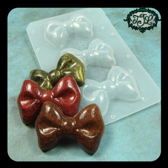 resin MOLD Kawaii Decoden BOW Set of 3  also for polymer clay, pmc, plaster, soaps, and candles