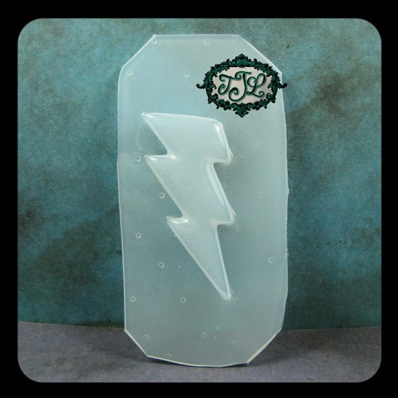 resin MOLD small LIGHTNING BOLT 45x25mm also for polymer clay, pmc, plaster, soaps, and candles
