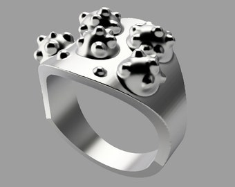 Infected Sterling Silver Ring - Pre-order and save