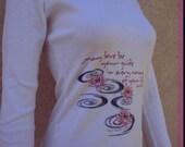 Paulo Coelho lotus hoodie jacket top long sleeve American Apparel