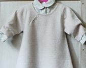 girl s cashmere dress 24m beige color