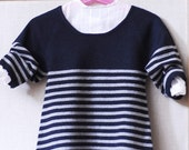girl s blue and grey striped dress 12m cashmere
