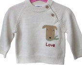 I MEET LOVE boy s wool sweater 2Y