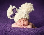 Knitting Pattern Newborn Double Fluff Baby Hat (PDF) For Bulky to Super Bulky Yarns Great Photography Prop Instant Download