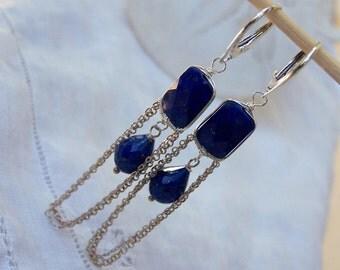 Lapis Lazuli  swing earrings