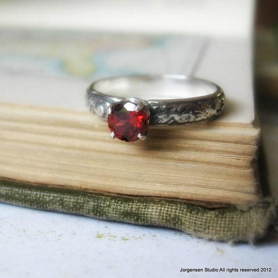 engagement ring or promise ring garnet gemstone stacking ring. Black Bedroom Furniture Sets. Home Design Ideas