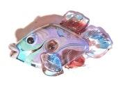 Handmade lampwork glass beads, fish jewelry, animal pendant, purple necklace, beading supplies, focal, SRA by Isinglass Design, glassbead