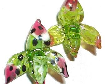 FLOWER TUTORIAL, Handmade Lampwork glass bead tutorial instructions. Glass Flower Bead, lily, star, orchid, aster, iris