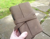 Austere - Brown Leather Journal - handbound