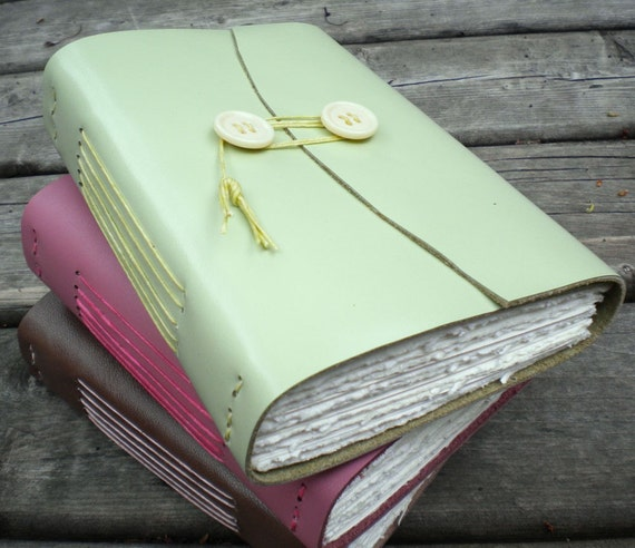Pale Green Leather Journal