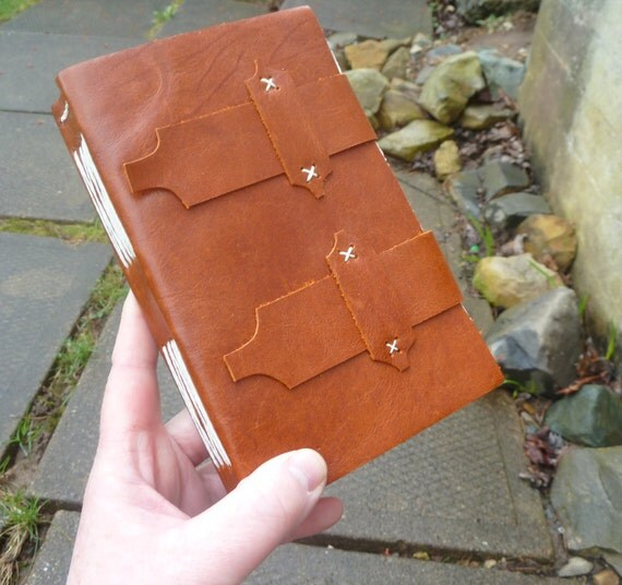 Timeless - Ocre Brown Leather Journal - handbound