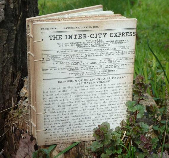 The Inter-City Express - Handmade Journal