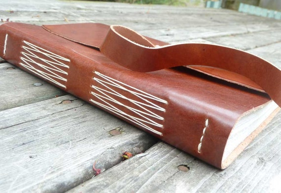 Large Leather Journal - brown