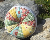 Round Patchwork Pillow
