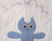 Quilt I Love You This Much in Blue for Boy