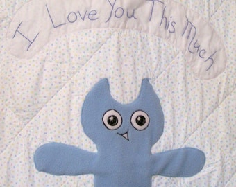 Quilt, I Love You, Blue, Boy, Baby, Quilted, Handmade