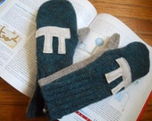 Slice of pi for the wintertime recycled wool mittens