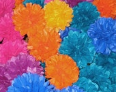 "50, DIY, 4.5"" ,Tissue Paper Flowers, mum,rose,dahlia,carnation, birthday, cupcake,Your Choice of Color"
