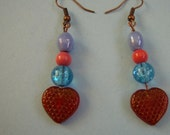 Little Red Hearts Take Me Out Tonight Earrings