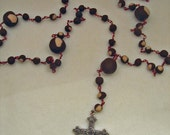 Buckeye Rosary Red Wire