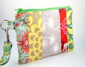 Zippered Wristlet with Detachable Wrist Strap-Amy Butler and Michael Miller Fabrics