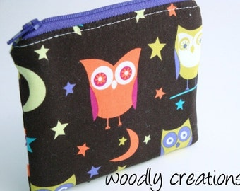 Zippered Pouch/Change Purse-Owls