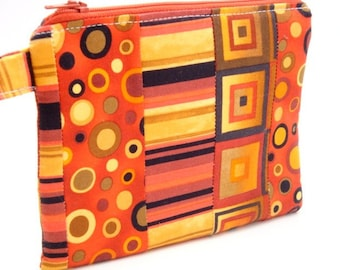 Zippered Wristlet-Geometric Print