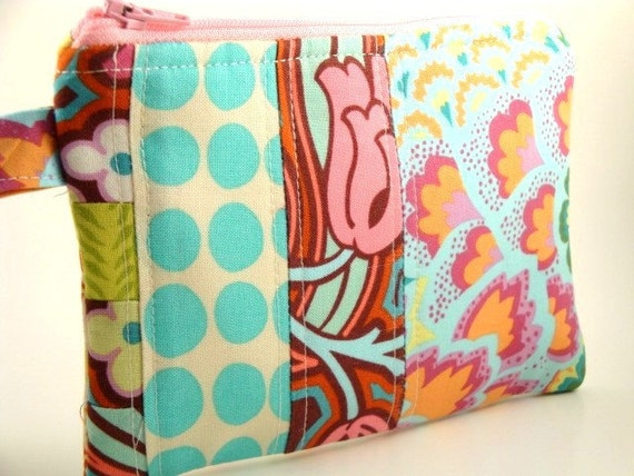 Zippered Wristlet-Amy Butler Fabrics-Patchwork