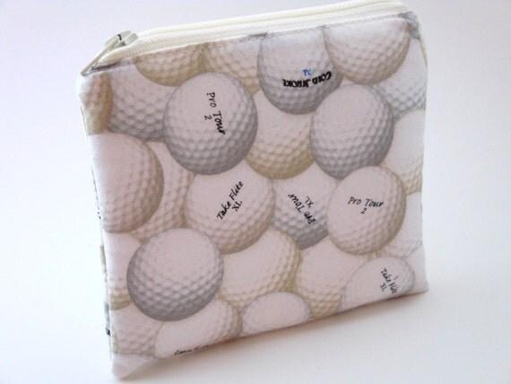 Zippered Change Purse-Golfballs