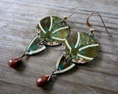Lady in Autumn Recycled Tin Earrings