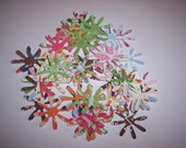 Embellishments hand punched 48 Sparkle Flowers 14