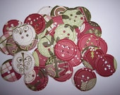 Embellishments hand punched 48 Buttons 8 Christmas theme
