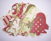 Embellishments hand punched 45 Christmas bells