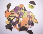 Embellishments hand punched 20 Hallowen Cupcakes
