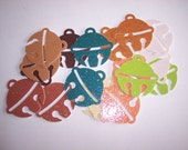 Embellishments hand punched 18 glitter paper Christmas ornaments
