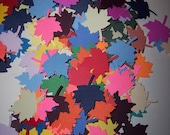 Scrap booking embellishments hand punched 100 bright Leaves