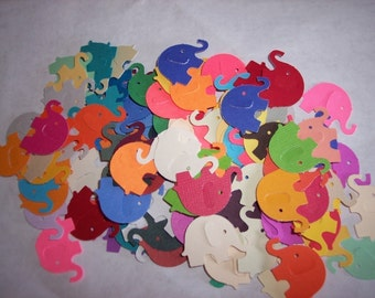 Card making/scrap booking embellishments hand punched 50 Elephants