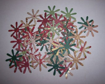 Embellishments hand punched 42 Sparkle Flowers 6 (pattern and color on both sides)