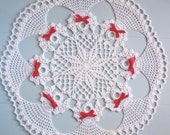 Hand Crocheted Christmas Doily.  Circle Of Angels.