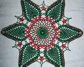 Hand Crocheted Christmas Doily