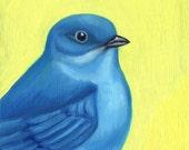 Blue Mountain Bird - Original