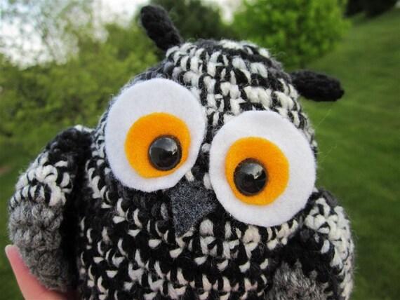Black and White Owl Plush