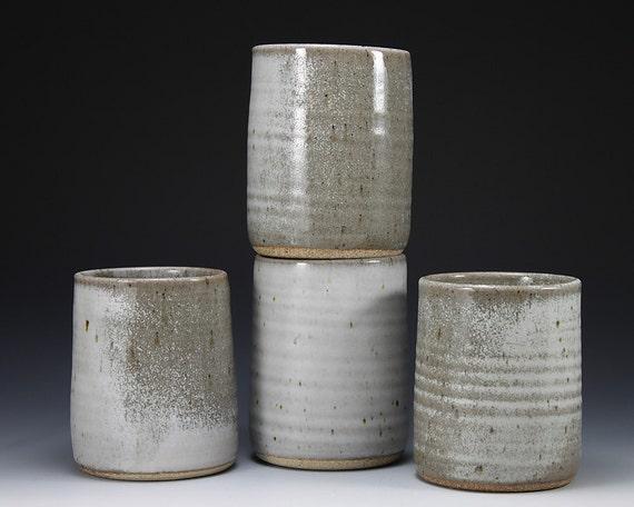 White Stoneware Ceramic Cup